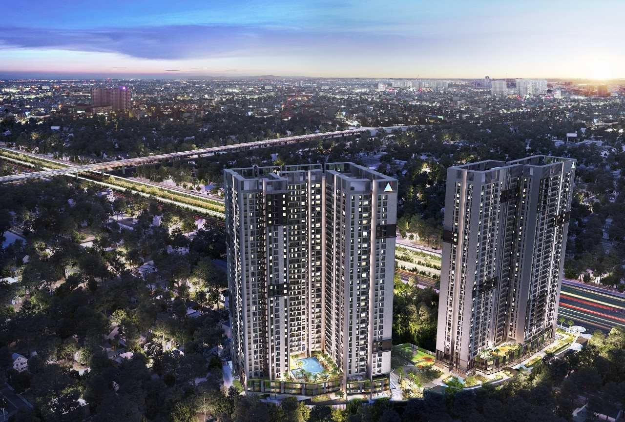 Opal Boulevard Phạm Văn Đồng - Phối cảnh dự án căn hộ cao cấp ban đêm